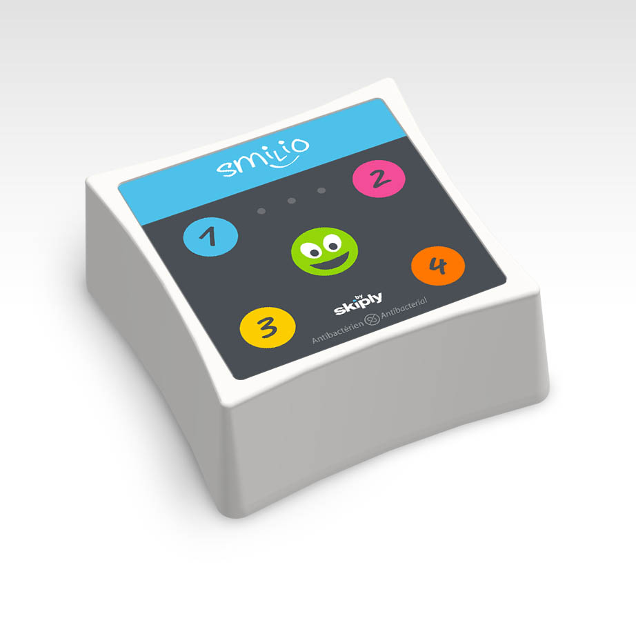 Connected buttons for on demand services by Skiply