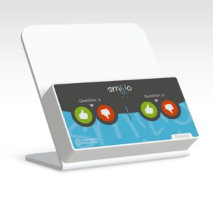 Skiply, platine comptoir pour borne de sondage Smilio S