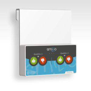 Skiply, platine vitrine pour borne de sondage Smilio S