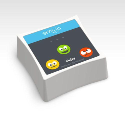 3 smileys survey terminal by Skiply