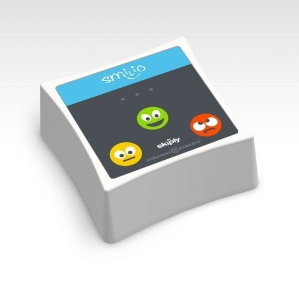 3 smileys survey terminal by Skiply