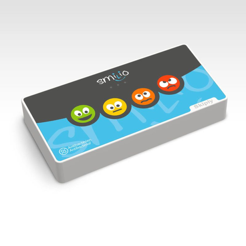 Skiply, borne de sondage 4 smileys, survey terminal