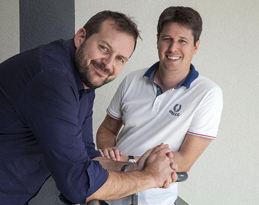 Jérôme Chambard et Sébastien Moulis, fondateurs Skiply