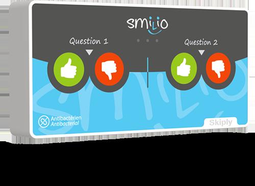 Skiply borne de sondage Smilio S 4 pouces deux questions