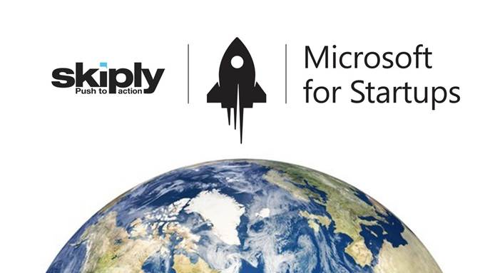 Skiply actualité Microsoft for startups